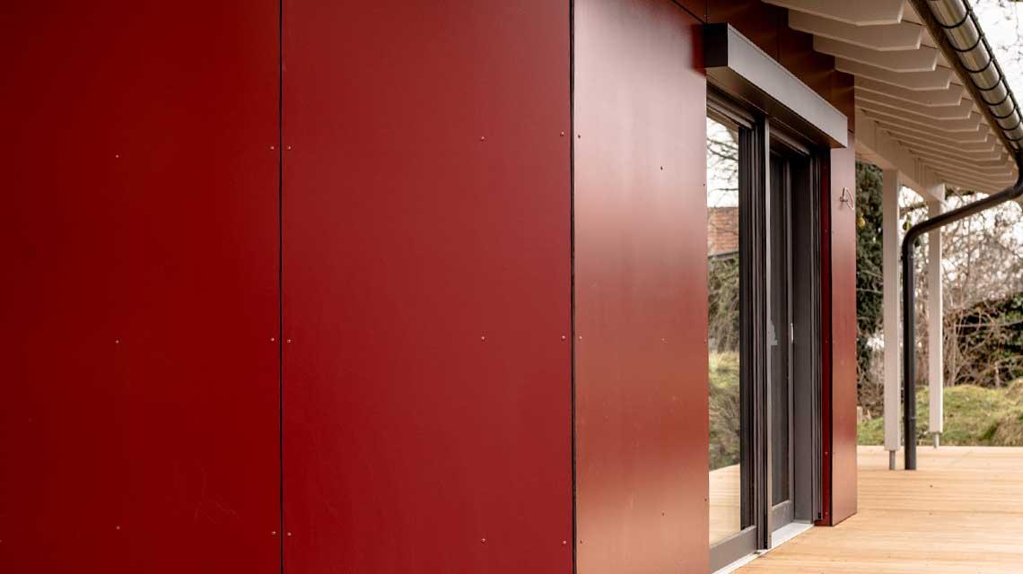 Fassadenverkleidung Holzbau Nisch